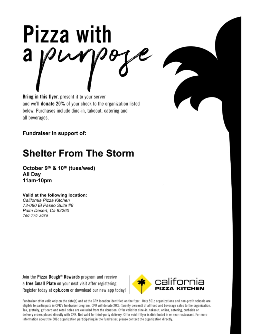 Pizza With A Purpose Fundraiser Event Shelter From The