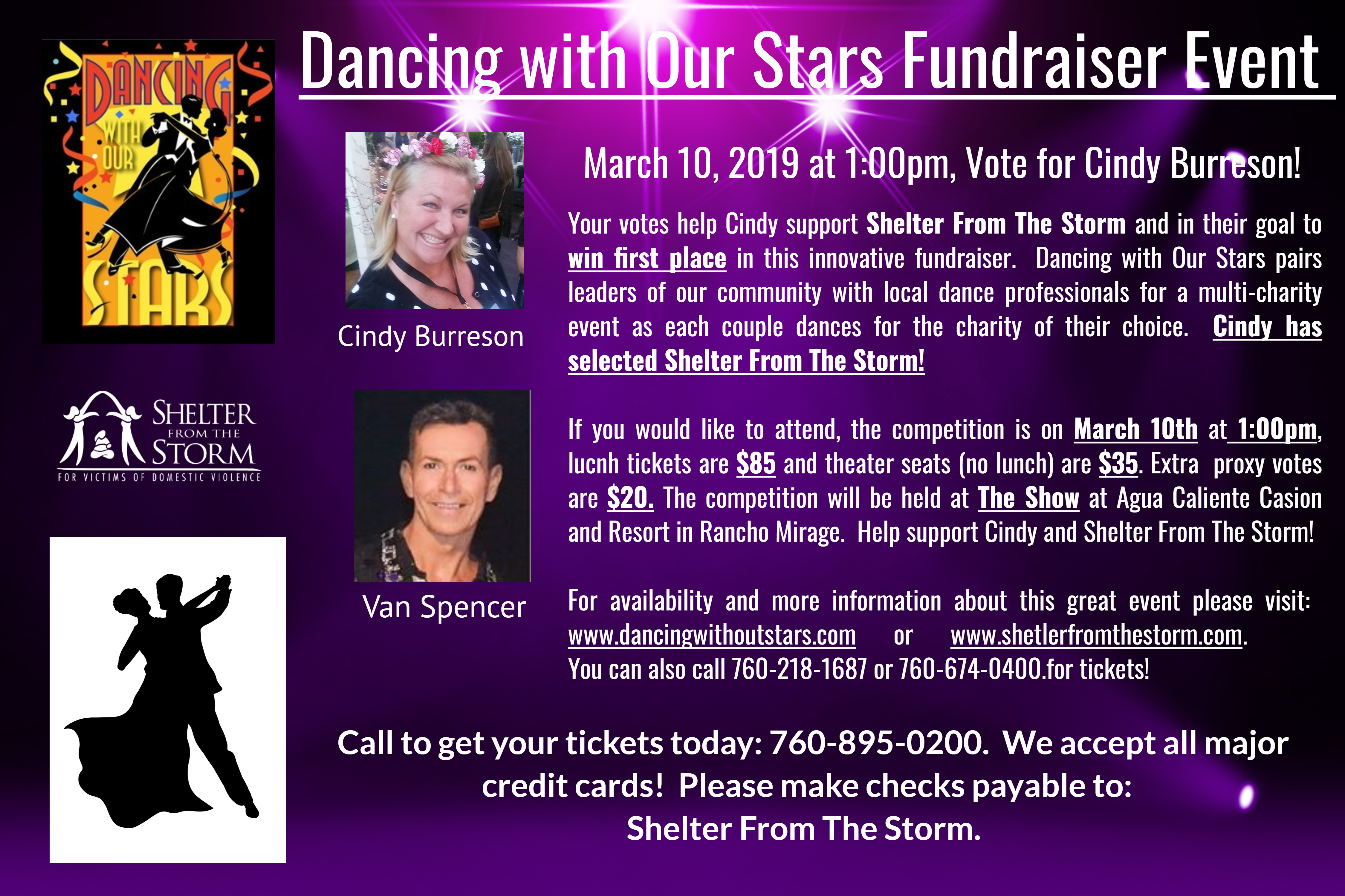 Dancing with Our Stars - Multi-charity fundraiser lunch event @ The Show at Agua Caliente Casino in Rancho Mirage, CA  | Rancho Mirage | California | United States
