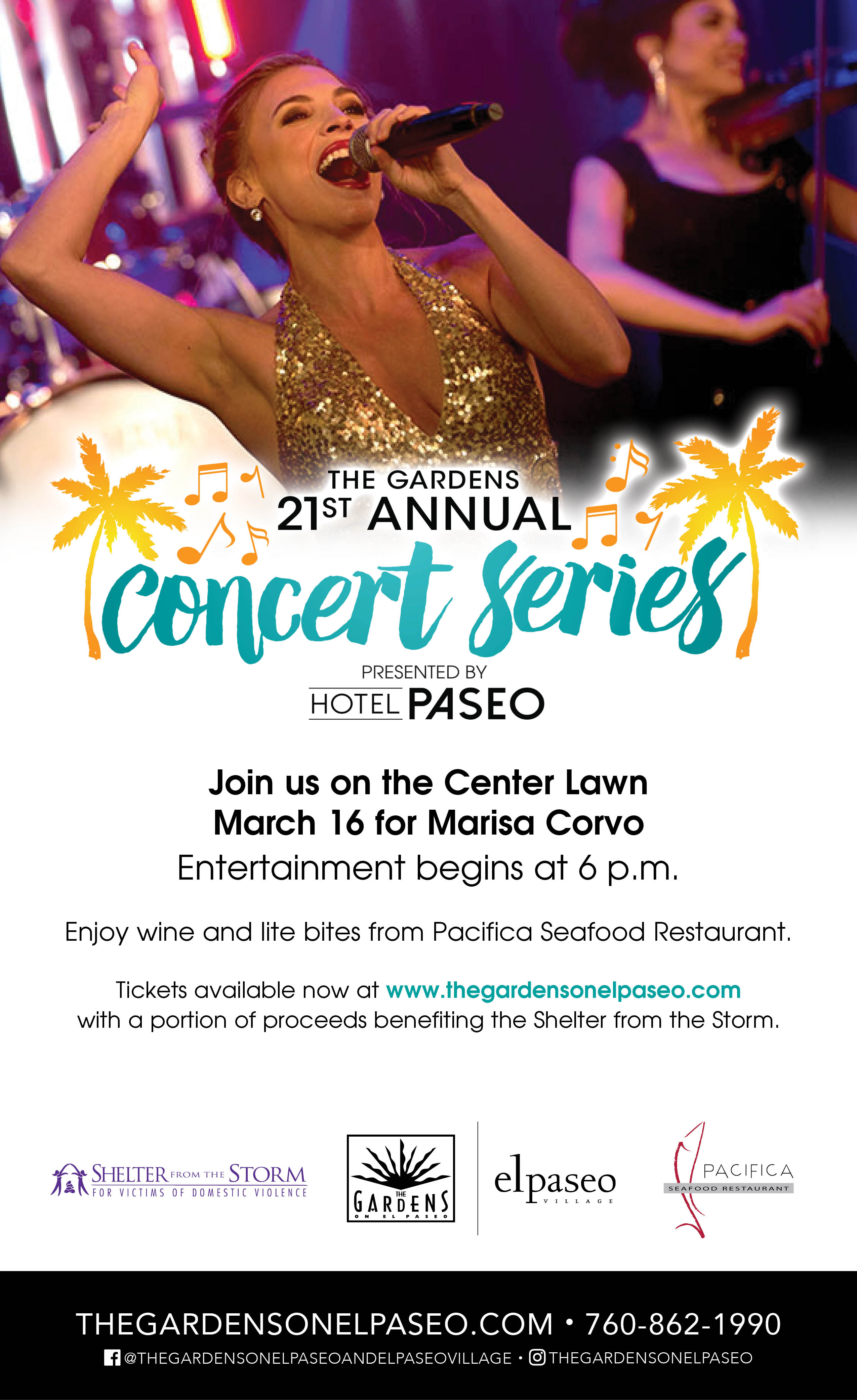 The Gardens 21st Annual Concert Series - entertainment by Marisa Corvo @ The Gardens on El Paseo  | Palm Desert | California | United States